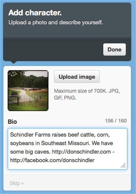 biography text function how to set up twitter for your family farm in 6 simple