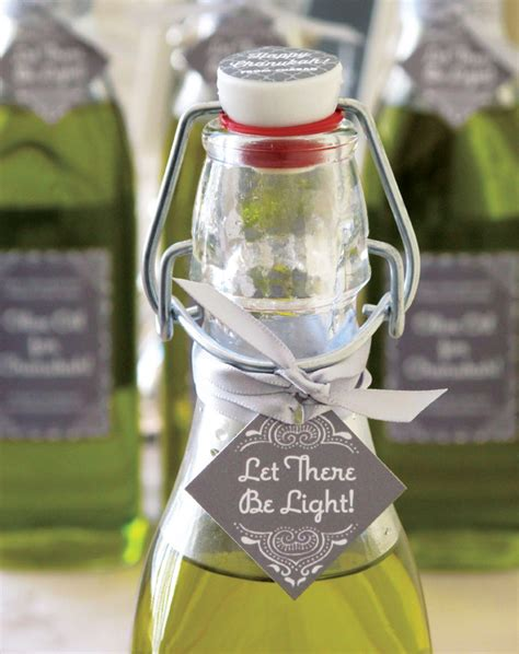 custom labeled olive oil bottles personalized labels hanukkah olive oil gifts gift favor ideas from evermine