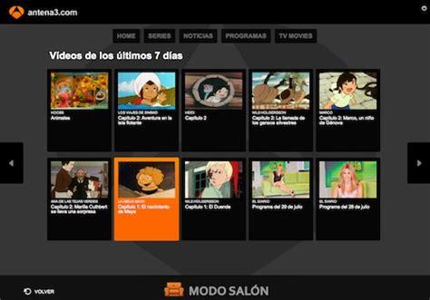 series de antena 3 modo salon 191 dibujos animados cl 225 sicos a la carta en antena 3