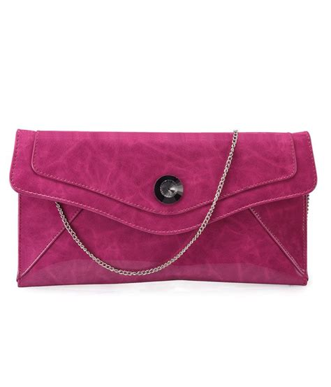 contrast color for pink contrast pink color sling clutch for ladies