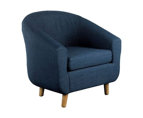 Blue Chair Upholstery Midnight Blue Fabric Tub Chair Uk Delivery