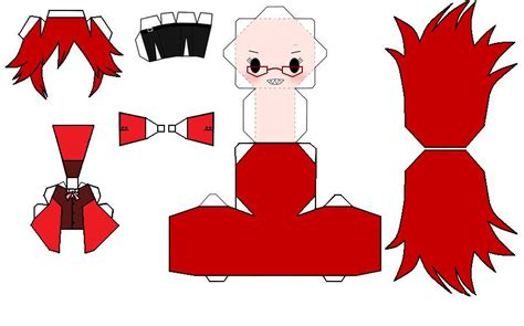 Papercraft Templates Anime - chibi grell papercraft by themistressofanime on deviantart