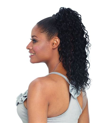 Wavy Ponytail Hair palm freetress equal drawstring ponytail synthetic