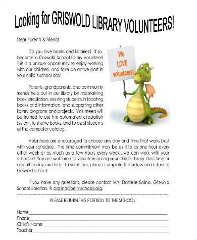 Parent Letter Exles Day Of School parent volunteer letter template 28 images parent