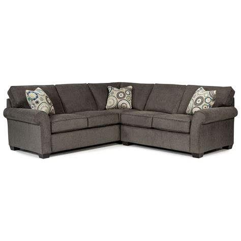 broyhill sectional sofa broyhill furniture ethan two sectional as shown