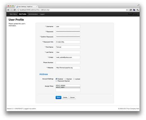 bootstrap templates for java refreshing appfuse s ui with twitter bootstrap dzone java