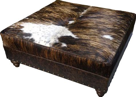 cow hide ottomans mesa western cowhide ottoman western ottomans free shipping