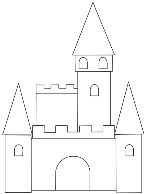 castle template for cinderella s castle paper piecing patterns