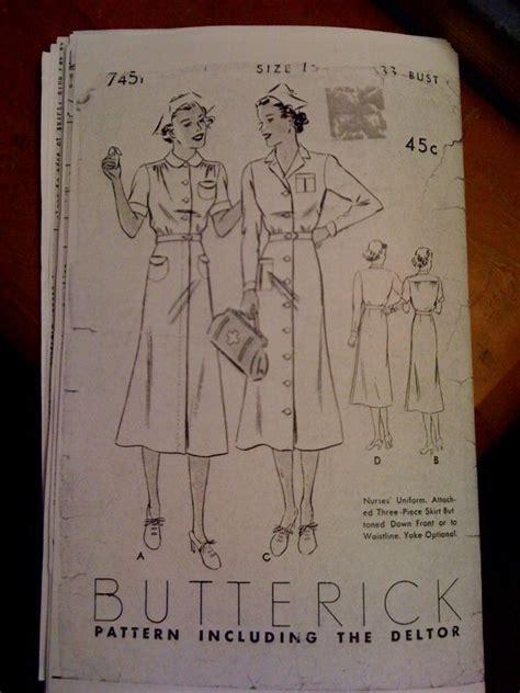 vintage nurse pattern vintage nurse uniform pattern found on snapped garters