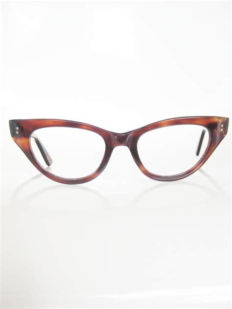 vintage eyeglasses cat eye 60s frames 1960s glasses