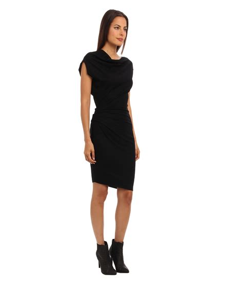 Sleeve Asymmetrical Dress helmut lang asymmetrical sleeve dress in black lyst