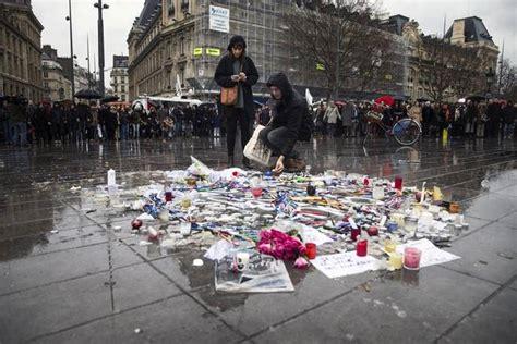 imagenes fuertes del atentado en francia fotos muestras de duelo por v 237 ctimas de atentado en par 237 s