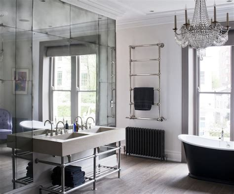 mirrored bathroom walls how tall luxurious mirrors let you lift your ceiling w o