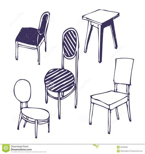 Stuhl 3d Zeichnen by Gezeichnet St 252 Hle Getrennt Lizenzfreie