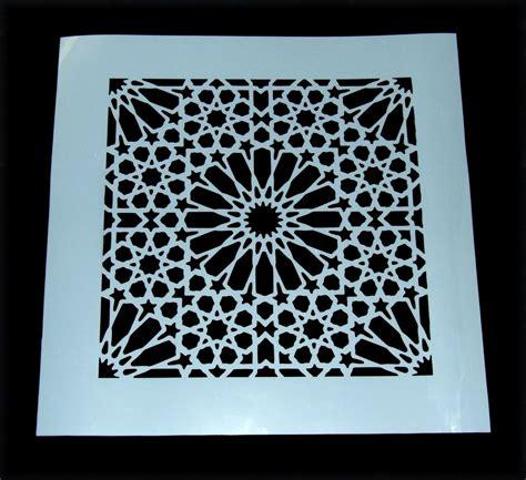 pattern tile stencils custom damask moroccan tile pattern mylar stencil laser