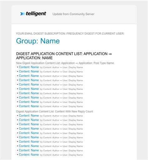 Customize The Email Digest Template User Documentation Telligent Community 9 X Telligent Email Digest Template