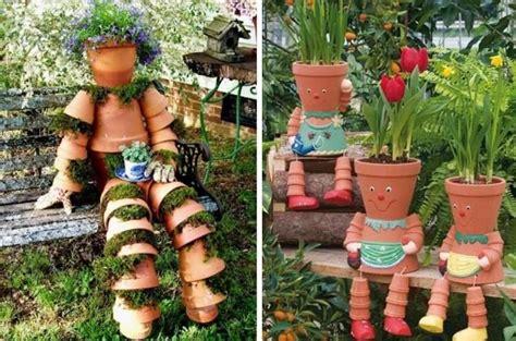 terracotta wandlen aussen figuren aus tont 246 pfen basteln und bepflanzen garten