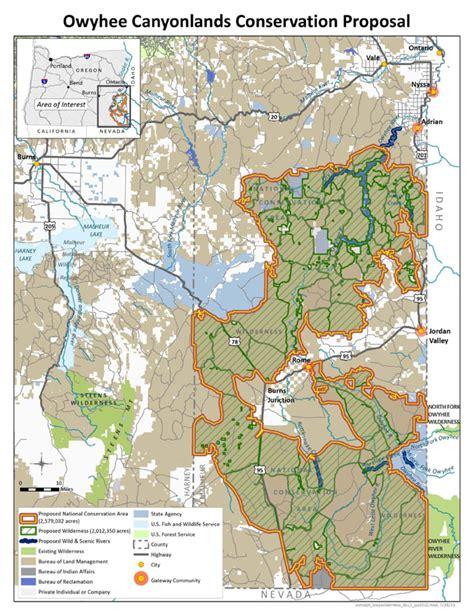 owyhee canyonlands map eastern oregon residents say land is in jeopardy kgw