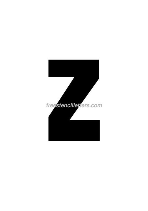 printable letter stencils 8 inch print 8 inch z letter stencil free stencil letters
