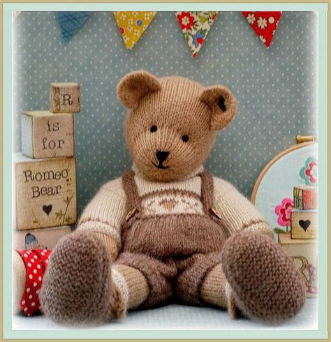teddy knitting pattern uk romeo teddy knitting pattern pdf plus free