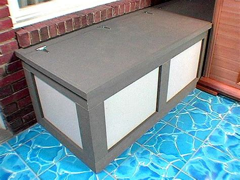 smart diy outdoor storage benches shelterness