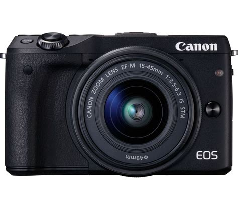 Canon Eos M3 canon eos m3 mirrorless with 15 45 mm f 3 5 6 3