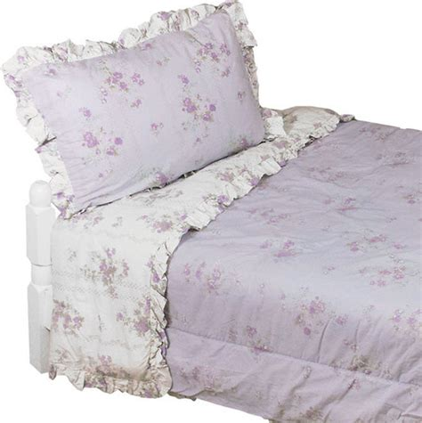 shabby chic king comforter set purple flowers bedding