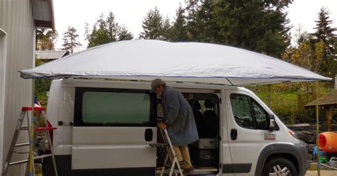 bus depot awning promaster to buster the cer van ezy
