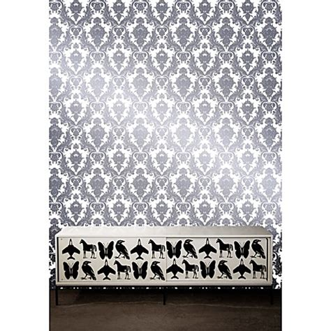 bed bath and beyond wallpaper tempaper 174 removable wallpaper in damsel oyster bed bath