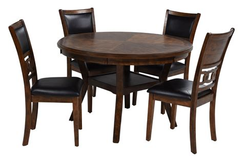 round with 4 chairs gia light brown round with 4 chairs mor furniture