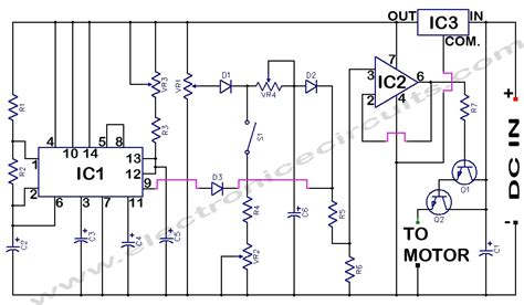 dc motor circuit electronic circuits