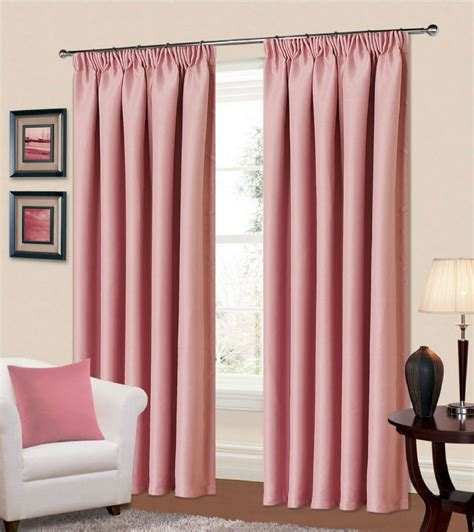 living room curtains uk plain baby pink colour thermal blackout bedroom livingroom readymade curtains pencil pleat