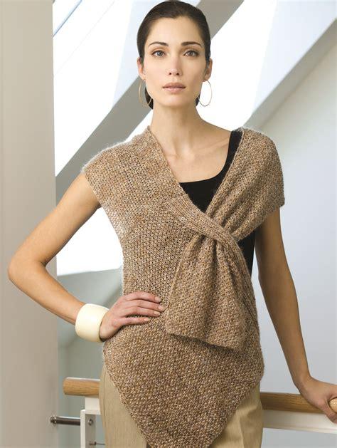 free pattern wrap top versatile vest knitting patterns in the loop knitting