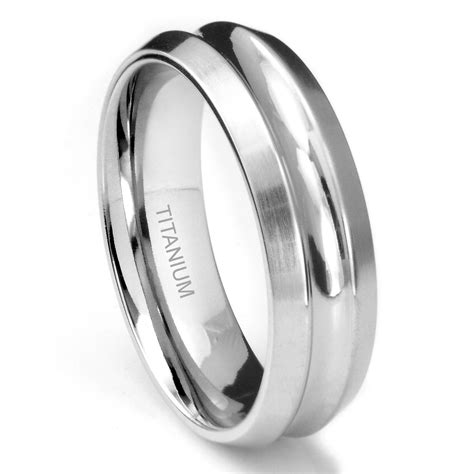 Titanium Rings by Unique Titanium Ring W Grooves