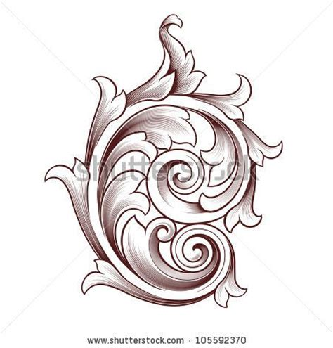 tattoos scroll designs baroque style tattoos vintage baroque scroll design
