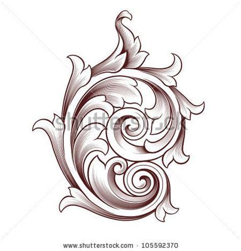 tattoos scroll designs baroque style tattoos vintage baroque scroll design