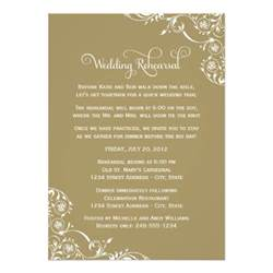 rehearsal dinner invitation wedding rehearsal and dinner invitations gold 5 quot x 7 quot invitation card zazzle