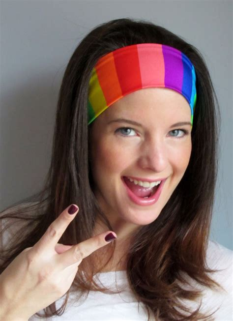 rainbow headband rainbow pride headband pflag headband