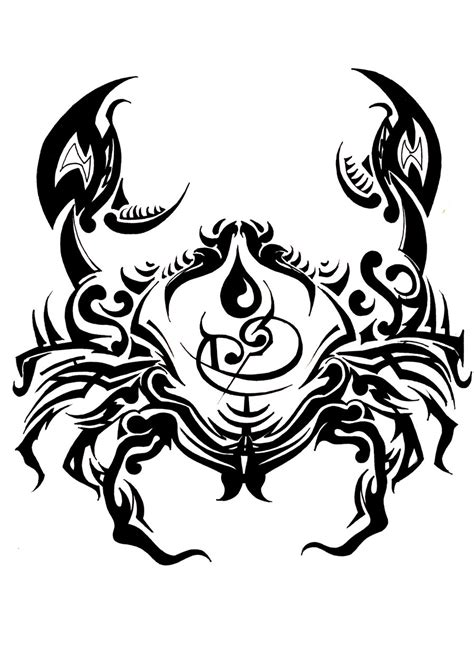 zodiac cancer tribal tattoo design tattooshunt com