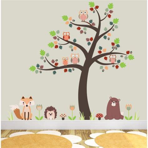 wall stickers nursery uk fox and owls nursery wall stickers