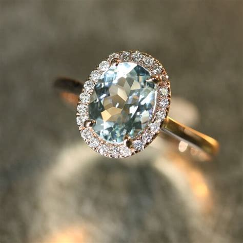 the meaning of aquamarine birthstone engagement rings