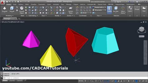 best autocad tutorial youtube autocad 3d pyramid command tutorial complete frustum of
