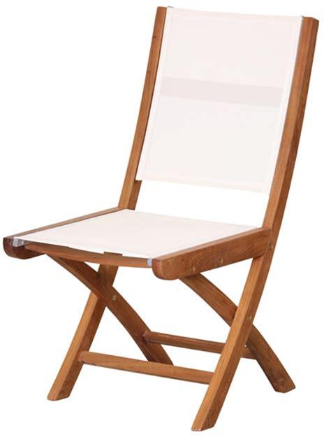 chaise bois pliante chaise pliante en bois teck et batyline 47cm