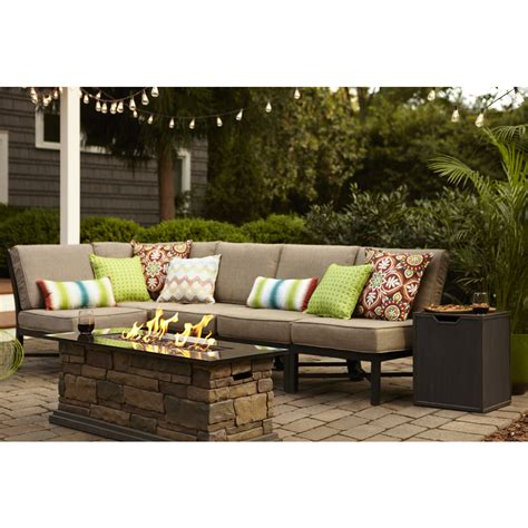 patio furniture set shop garden treasures palm city 5 black steel patio