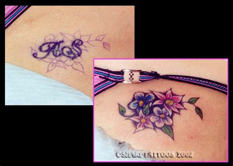 small tattoo cover up ideas various flowers color cover up ideas tattoomagz
