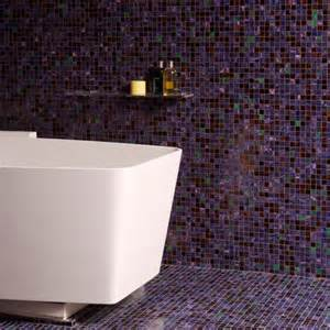 Mosaic Bathroom Tile Ideas by Floor To Ceiling Purple Mosaic Bathroom Tiles Bathroom