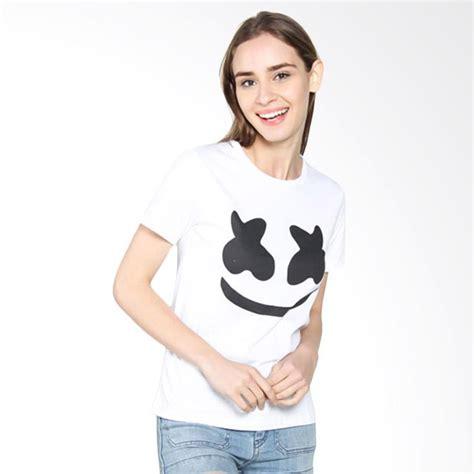 Kaos Lengan Pendek Wanita jual ellipses inc marshmellow t shirt kaos wanita lengan pendek putih