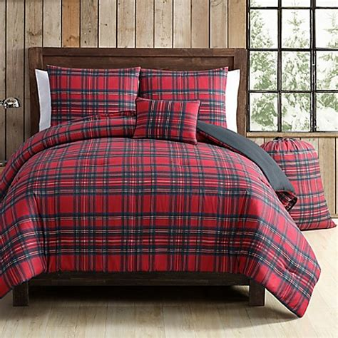 green plaid bedding buy vcny tartan plaid 5 piece full queen comforter set in