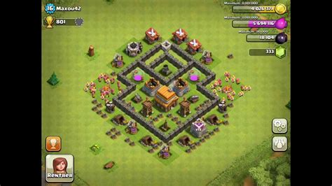 coc layout guide town hall level 4 strategy guide clash of clans tips