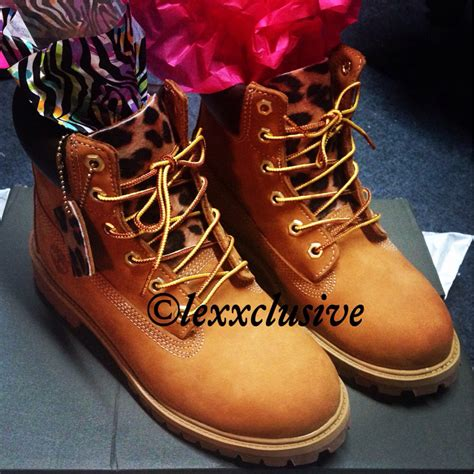 read description leopard timberlands without spikes